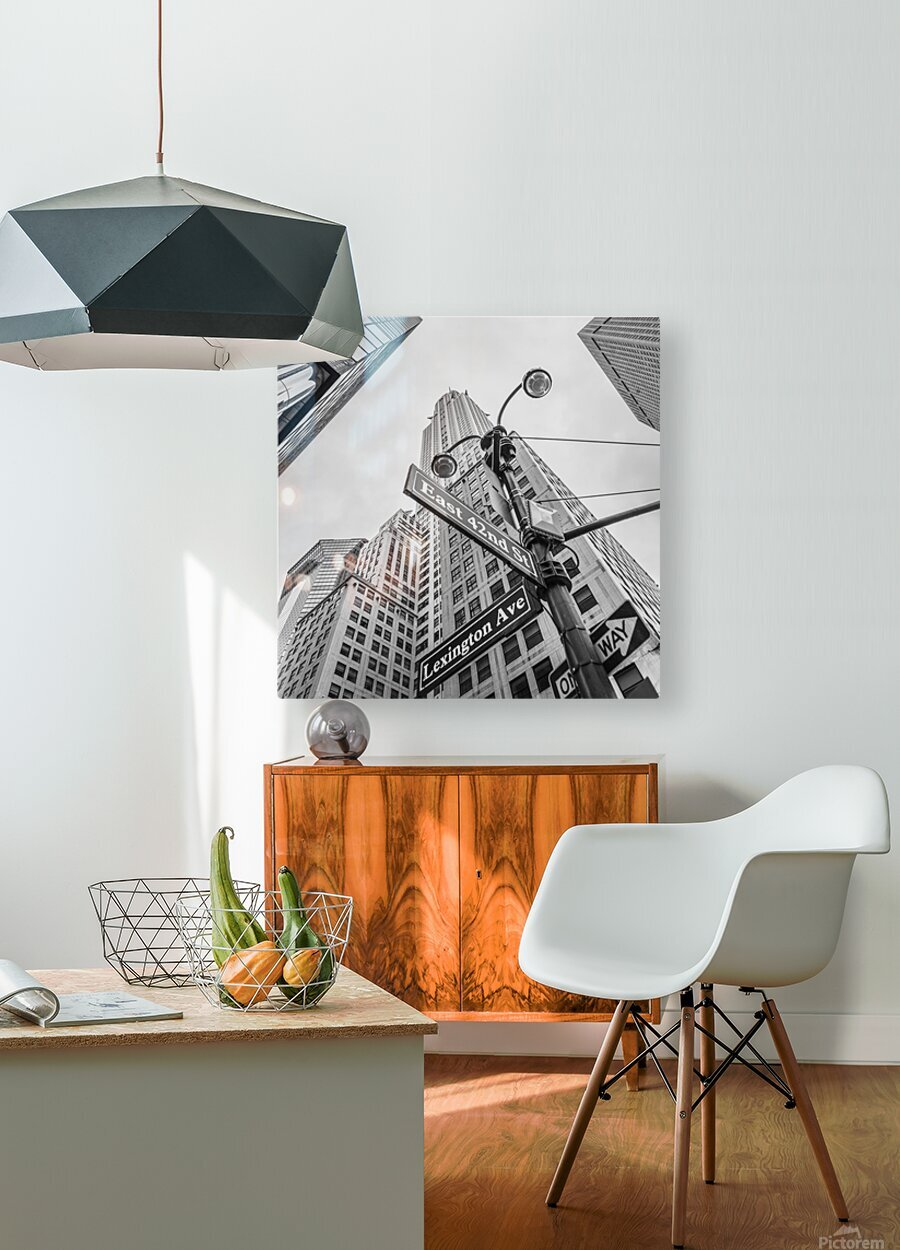 Chrysler Building in New York city  HD Metal print with Floating Frame on Back