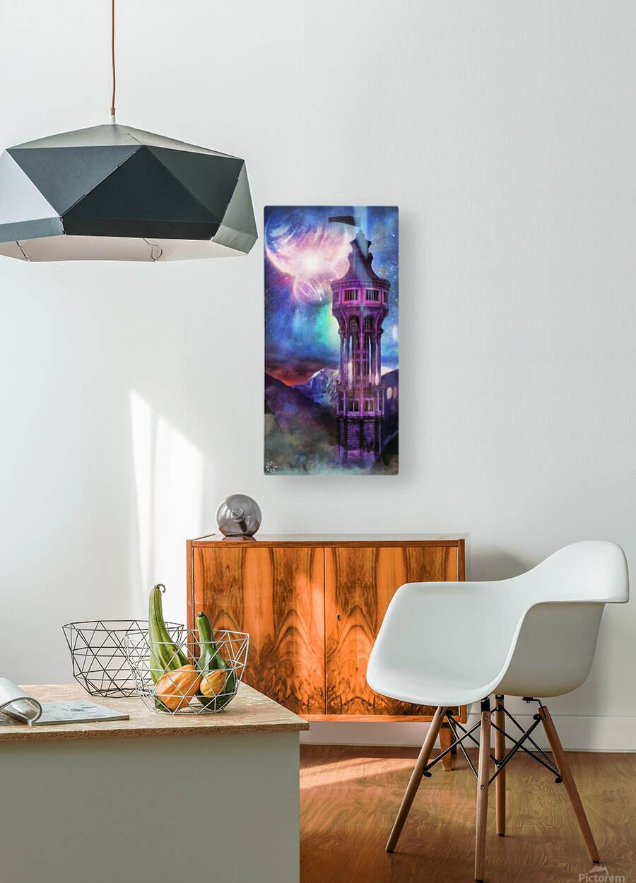 Interregnum Tower  HD Metal print with Floating Frame on Back