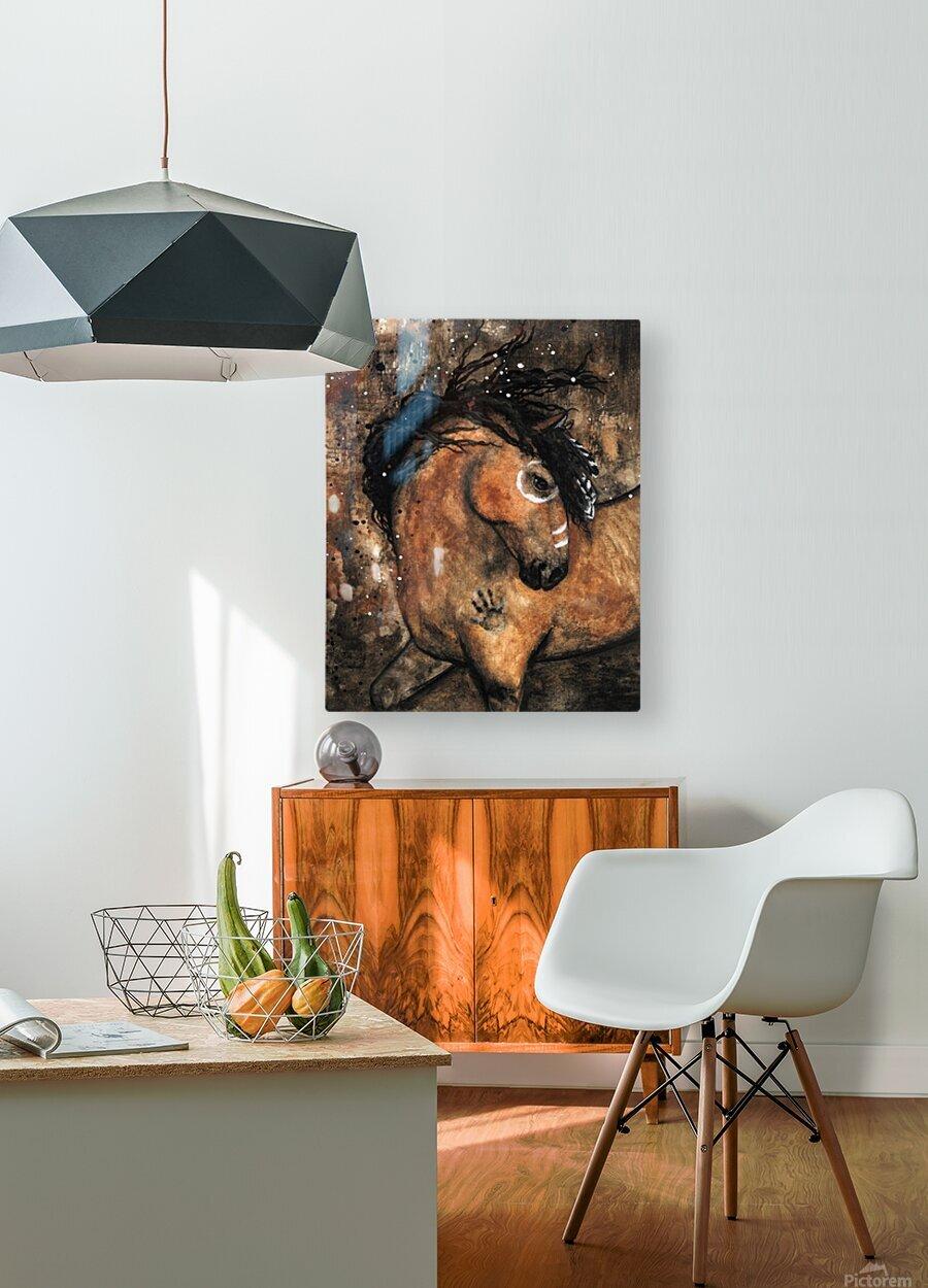 Spirit of Ancestors Horse  HD Metal print with Floating Frame on Back