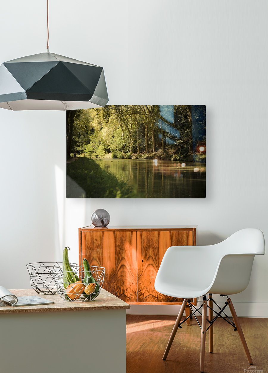 Canal  Carcassone  HD Metal print with Floating Frame on Back