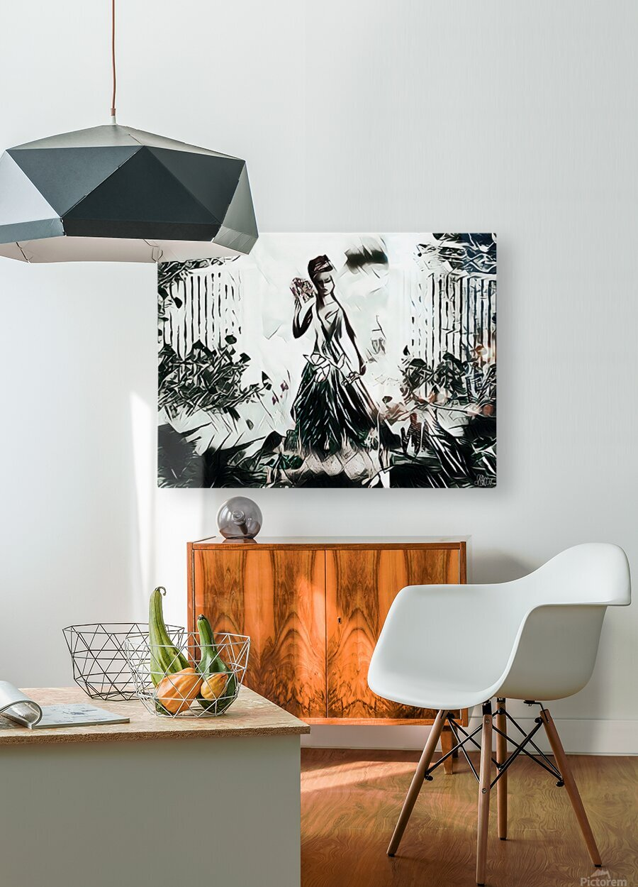 Natures Monarch of the Wild  HD Metal print with Floating Frame on Back