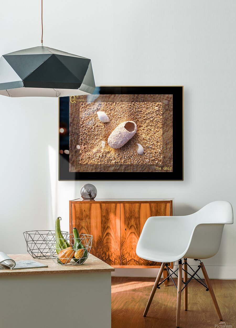 the child - English  HD Metal print with Floating Frame on Back