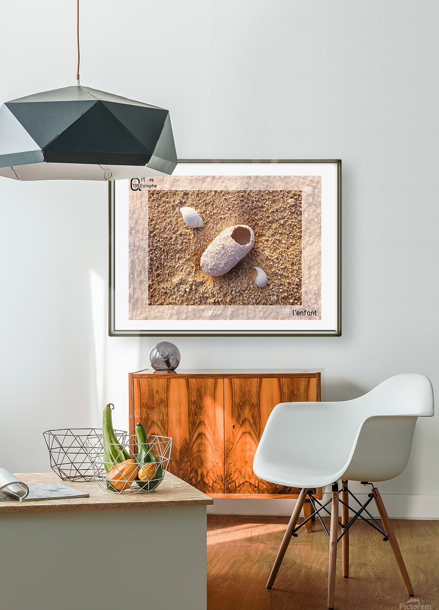 the child - French  HD Metal print with Floating Frame on Back