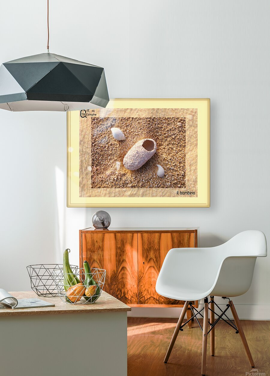 the child - Italian  HD Metal print with Floating Frame on Back