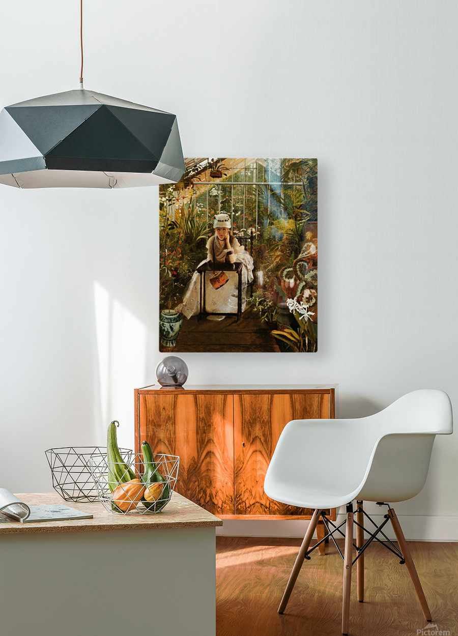 Il Penseroso  HD Metal print with Floating Frame on Back
