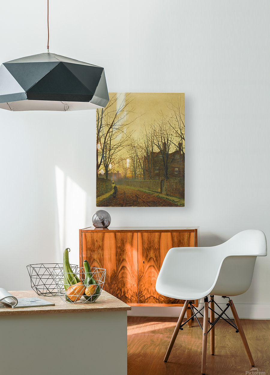 Late October  HD Metal print with Floating Frame on Back