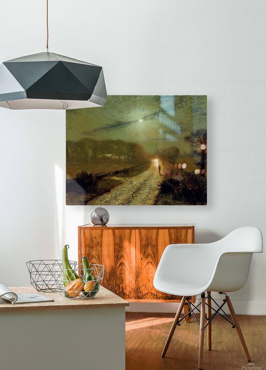 Moonlit Landscape  HD Metal print with Floating Frame on Back