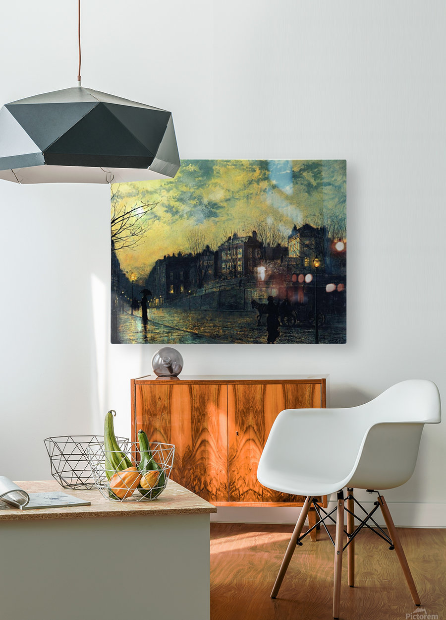 Hampstead  HD Metal print with Floating Frame on Back