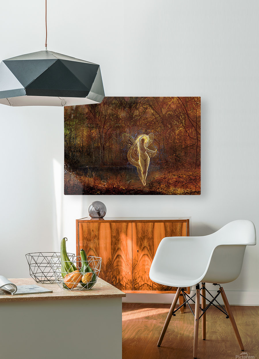 Dame Autumn has a mournful face  HD Metal print with Floating Frame on Back