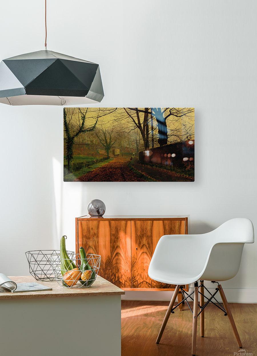 Autumn Sunshine Stapelton Park  HD Metal print with Floating Frame on Back