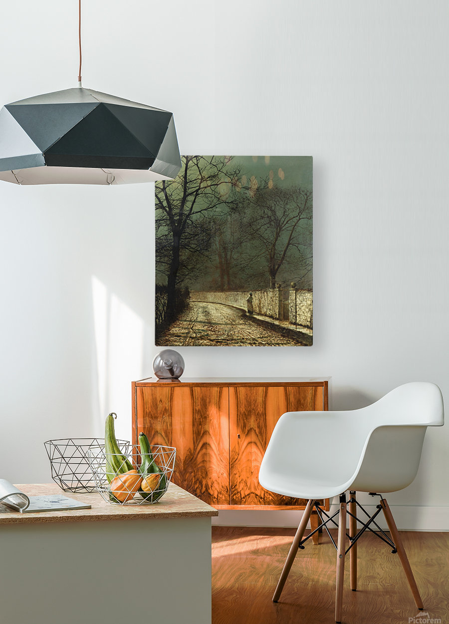 A November Night, 1874  HD Metal print with Floating Frame on Back