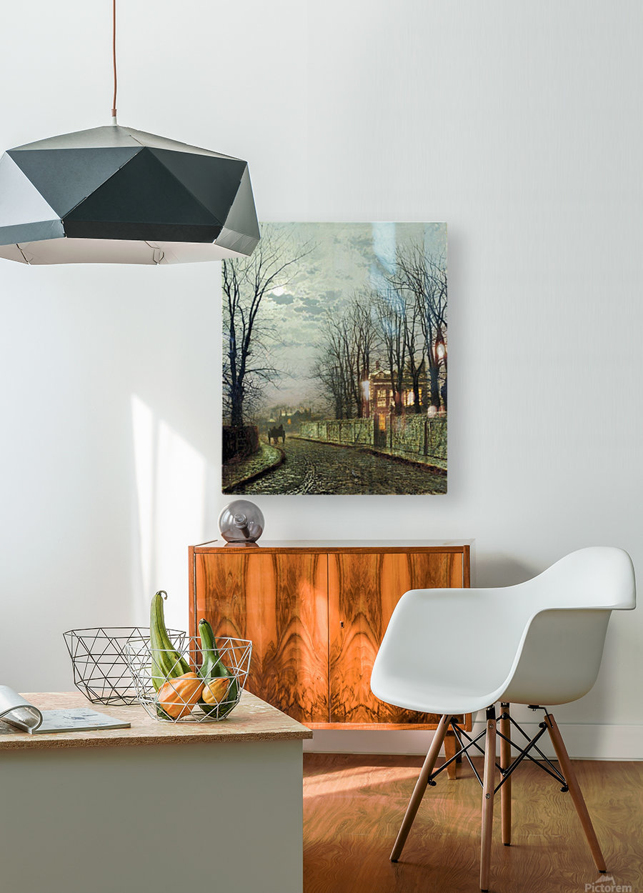 A Wintry Moon  HD Metal print with Floating Frame on Back