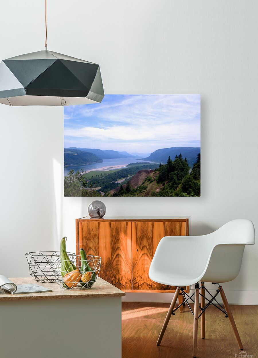 The Gorge   Columbia River  HD Metal print with Floating Frame on Back