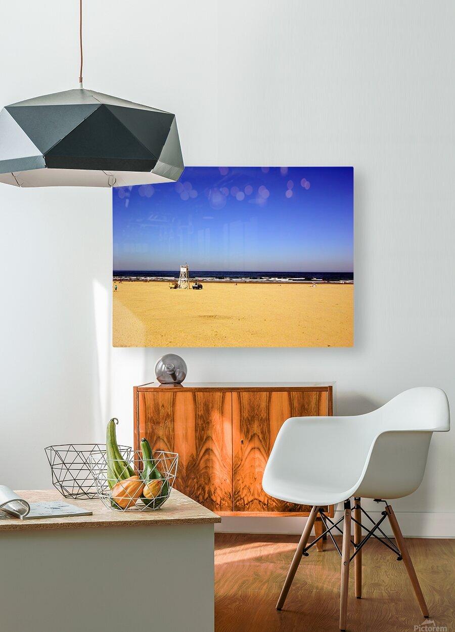 Oregon Coast   Golden Sands  HD Metal print with Floating Frame on Back