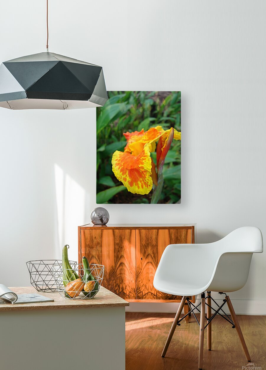 Floral Delight  HD Metal print with Floating Frame on Back
