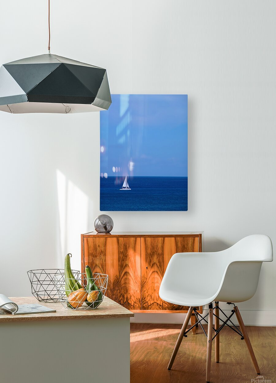 Blue Day - Gallery Artwork of the Year 2017 - Minimalism  HD Metal print with Floating Frame on Back