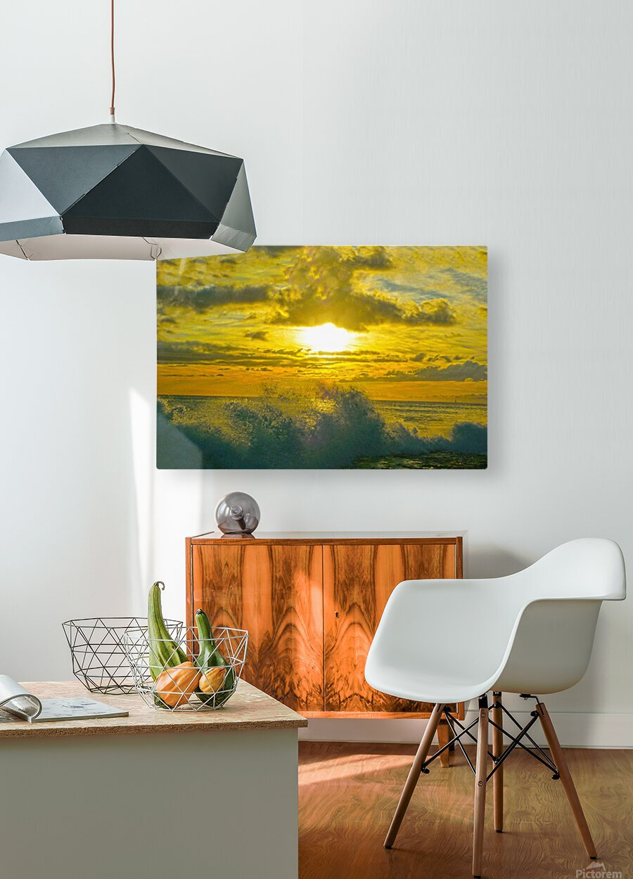 Surge  HD Metal print with Floating Frame on Back