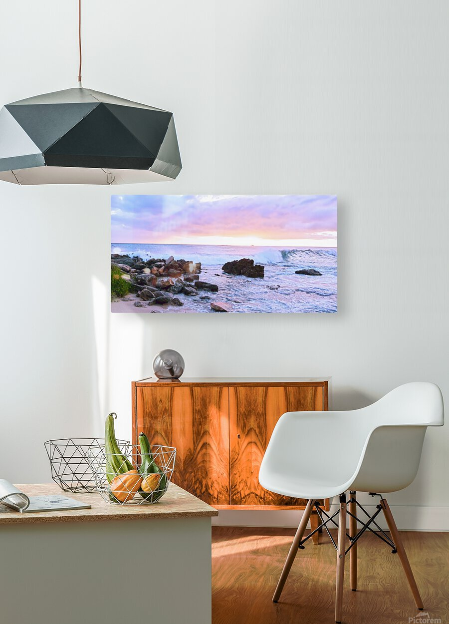 Rocky Coast  HD Metal print with Floating Frame on Back