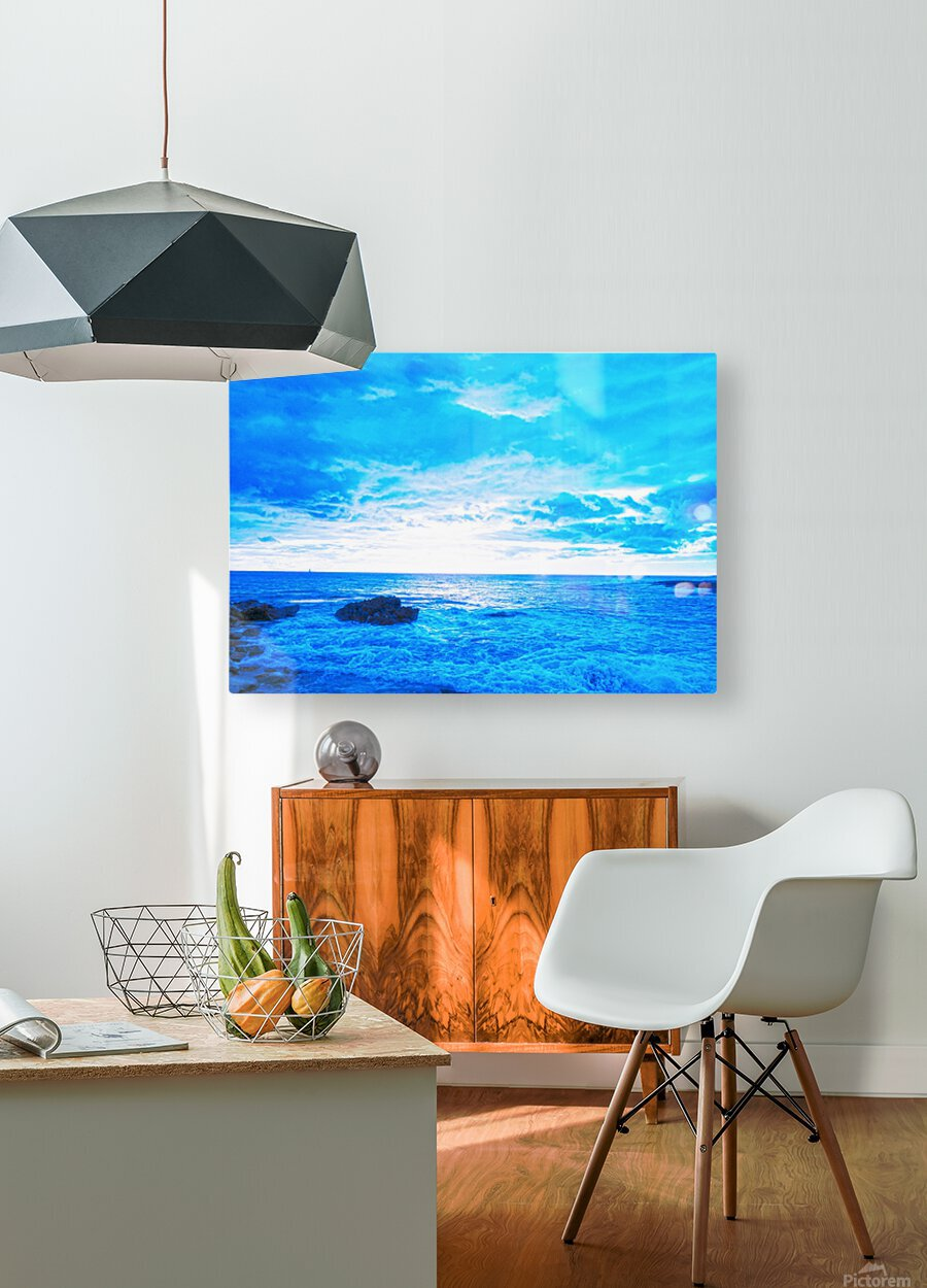 Blue World  HD Metal print with Floating Frame on Back