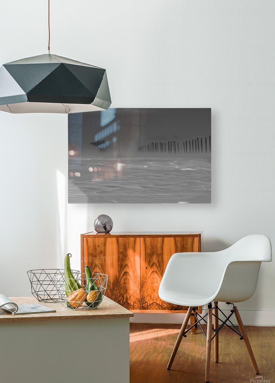 La bourrasque  Impression métal HD avec cadre flottant sur le dos