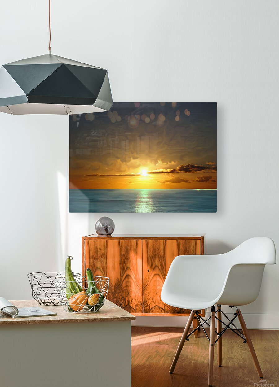 Painted Sky  HD Metal print with Floating Frame on Back