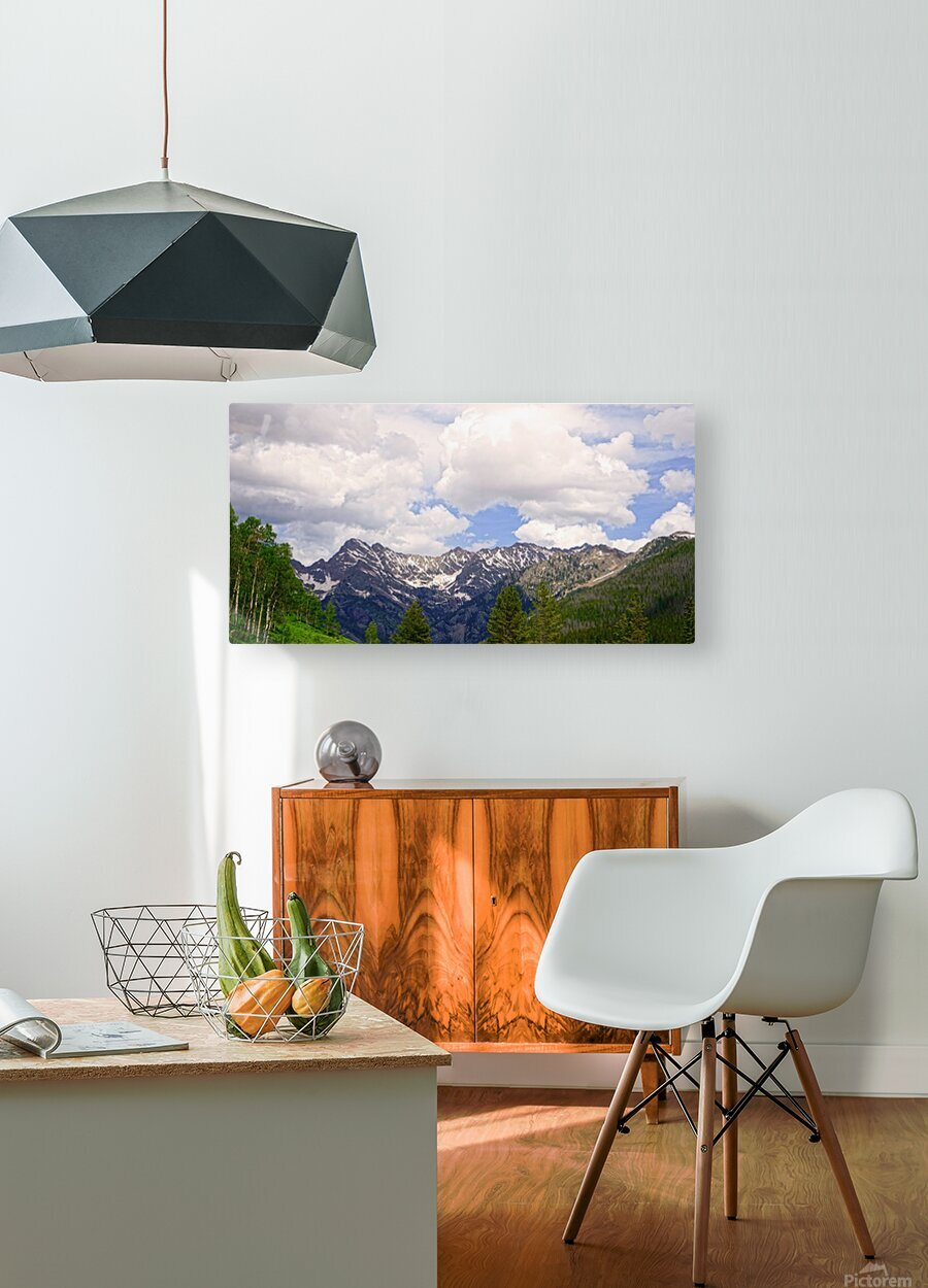 White River Country Colorado  HD Metal print with Floating Frame on Back