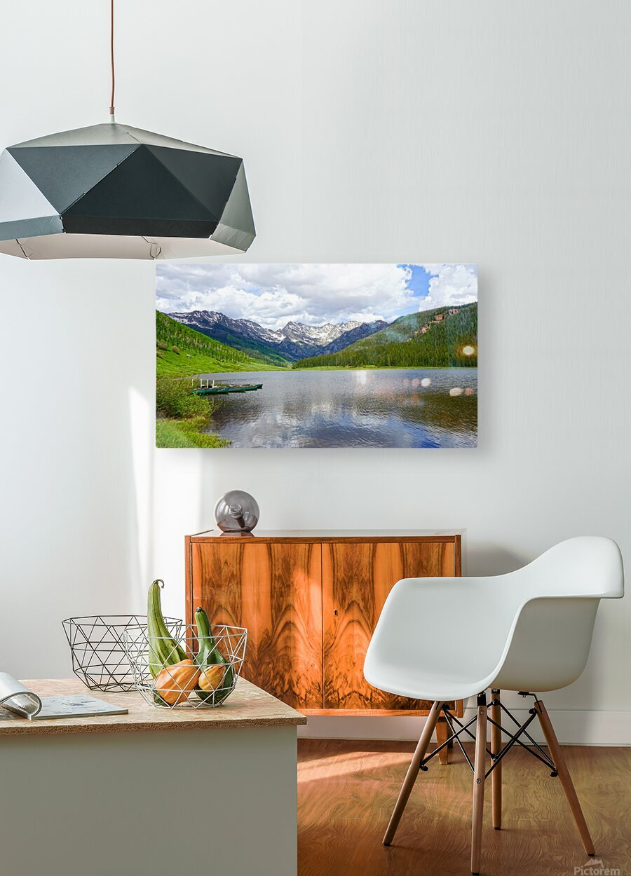 Rocky Mountain Reflections  HD Metal print with Floating Frame on Back