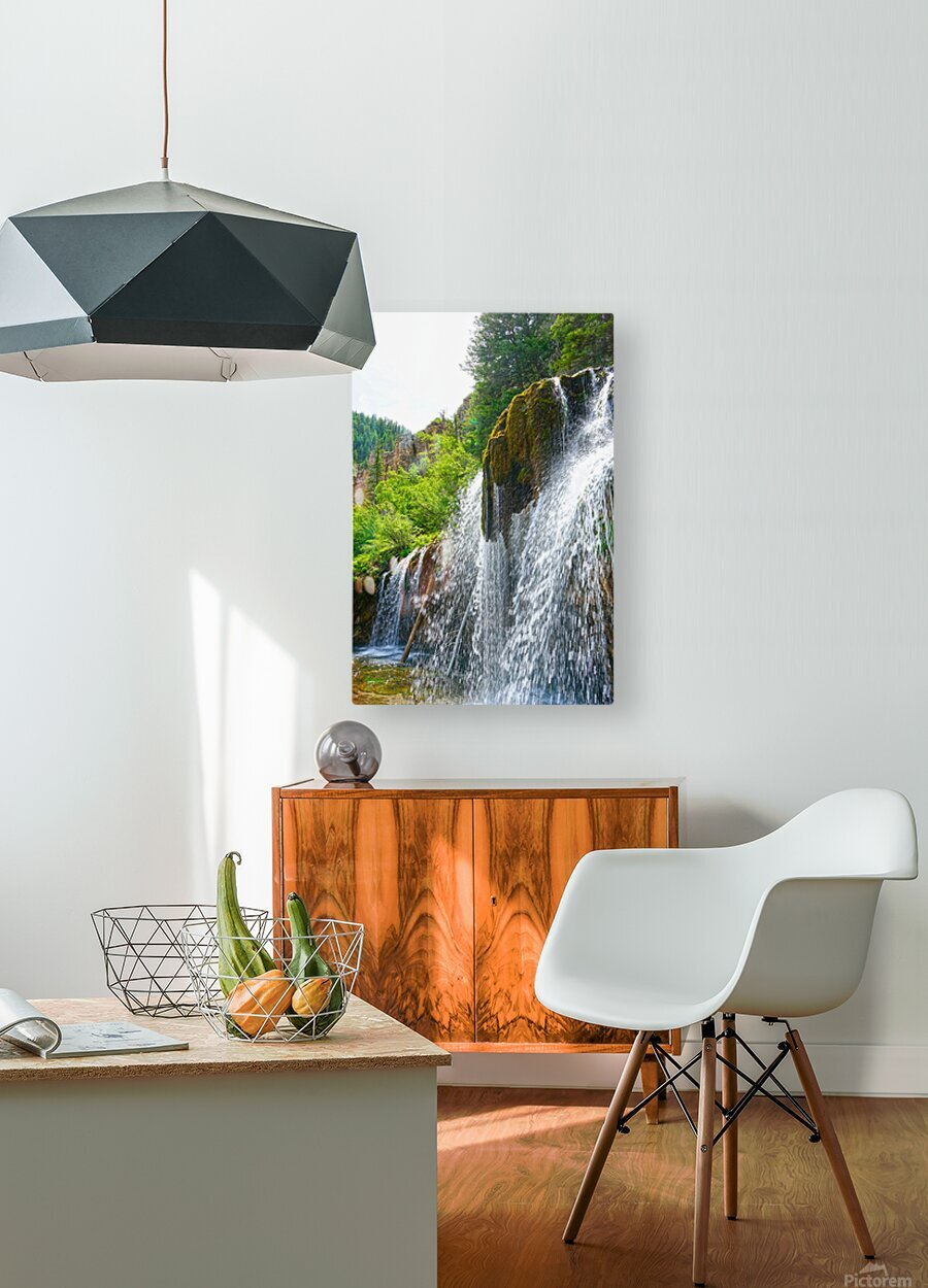 Wild Back Country  HD Metal print with Floating Frame on Back
