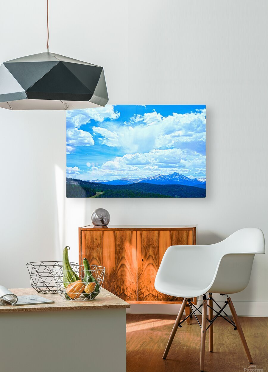 Painted Skies Over the Sawatch  HD Metal print with Floating Frame on Back