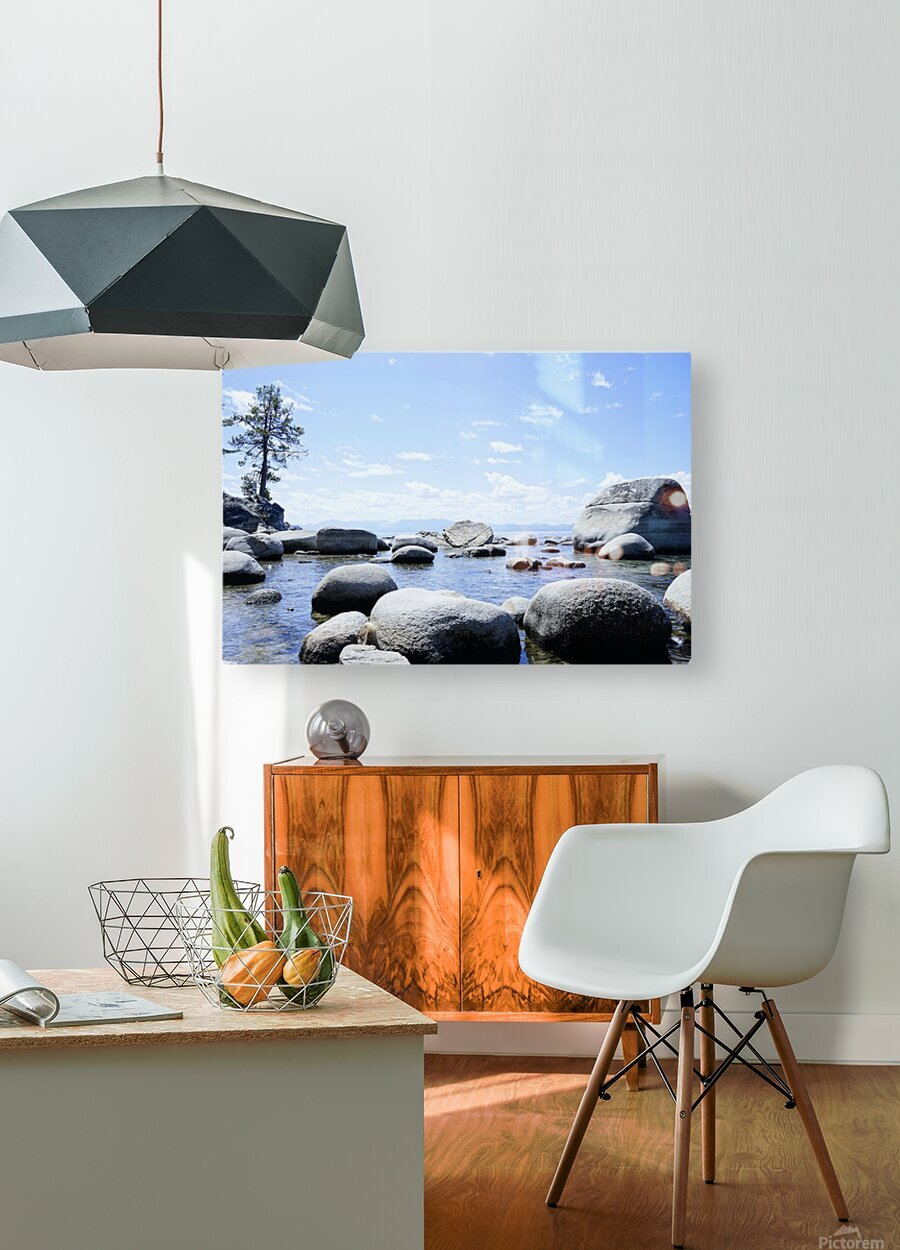 On the Lake - Tahoe California USA  HD Metal print with Floating Frame on Back