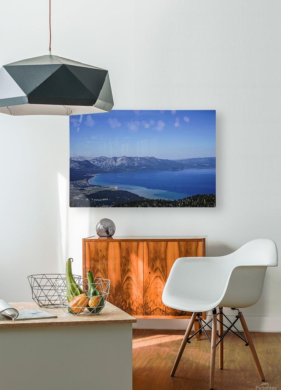 Lake Tahoe View - Tahoe California USA  HD Metal print with Floating Frame on Back