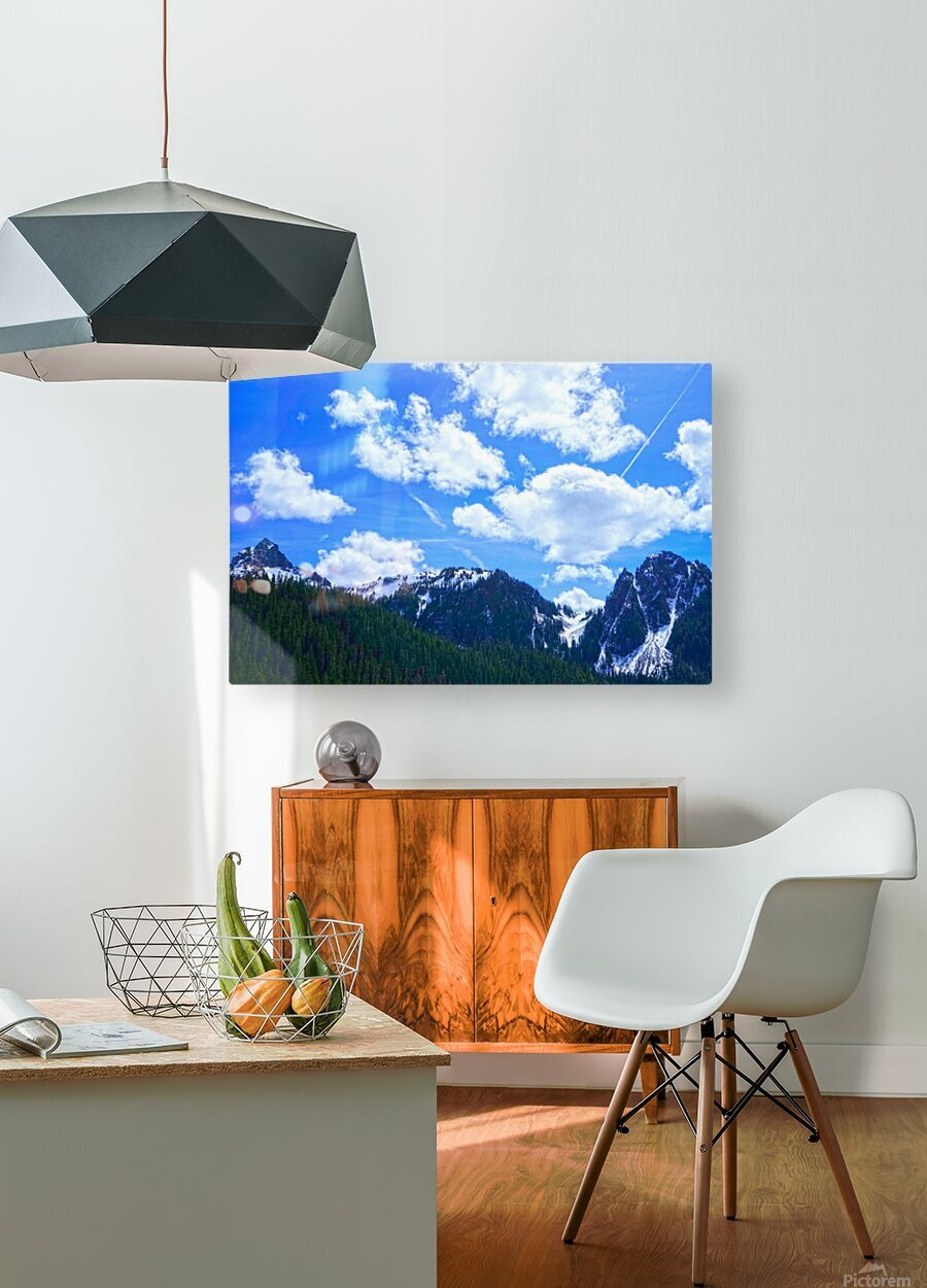 In the Cascade Mountains  HD Metal print with Floating Frame on Back