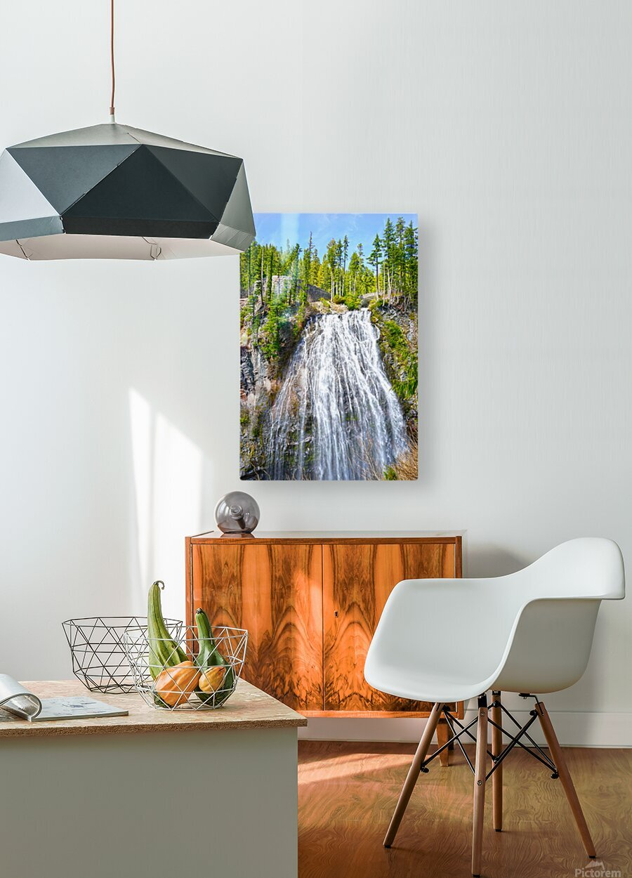 Northwest Waterfall  HD Metal print with Floating Frame on Back