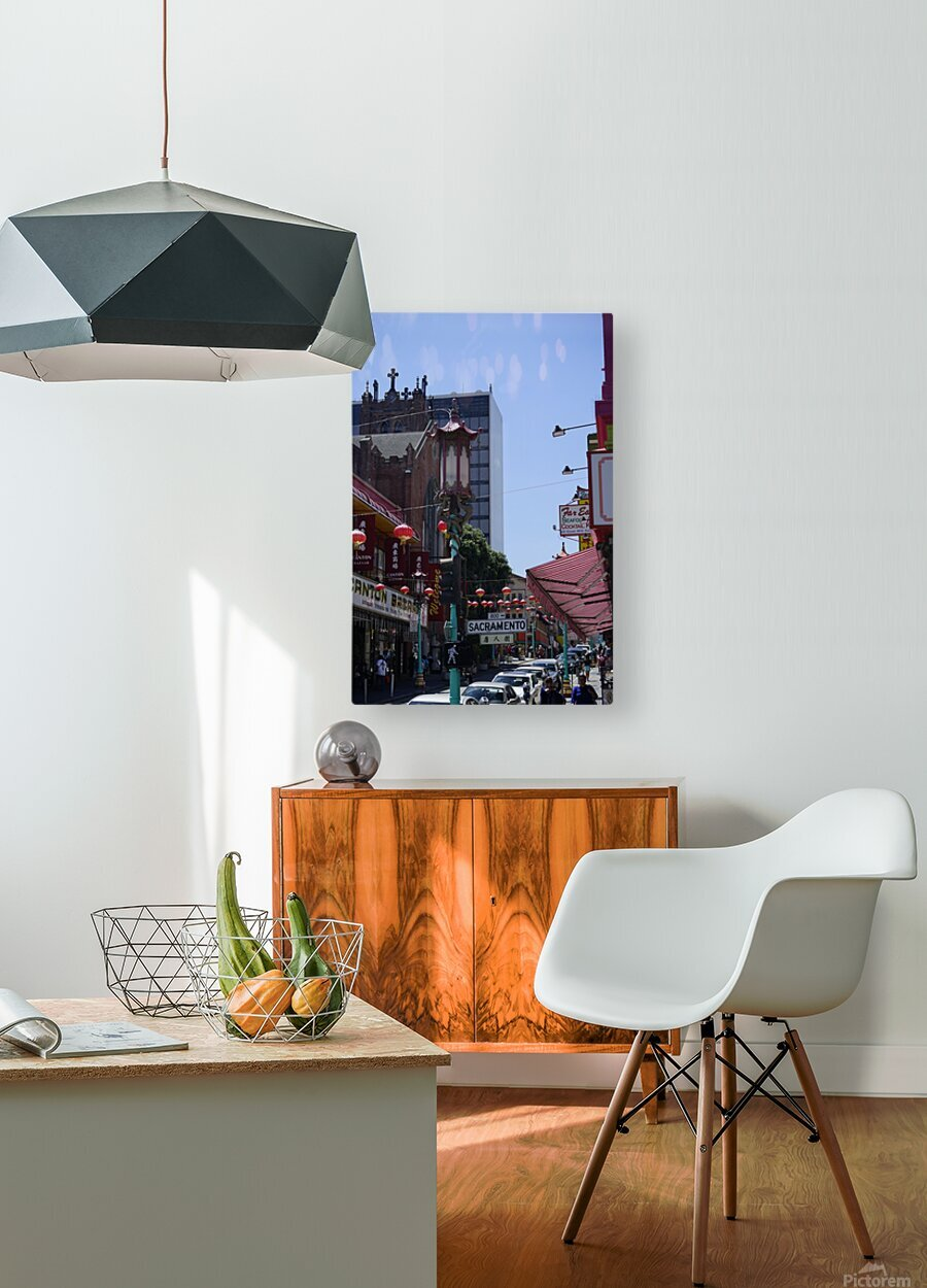 Snapshot in Time Chinatown 2 @ San Francisco  HD Metal print with Floating Frame on Back