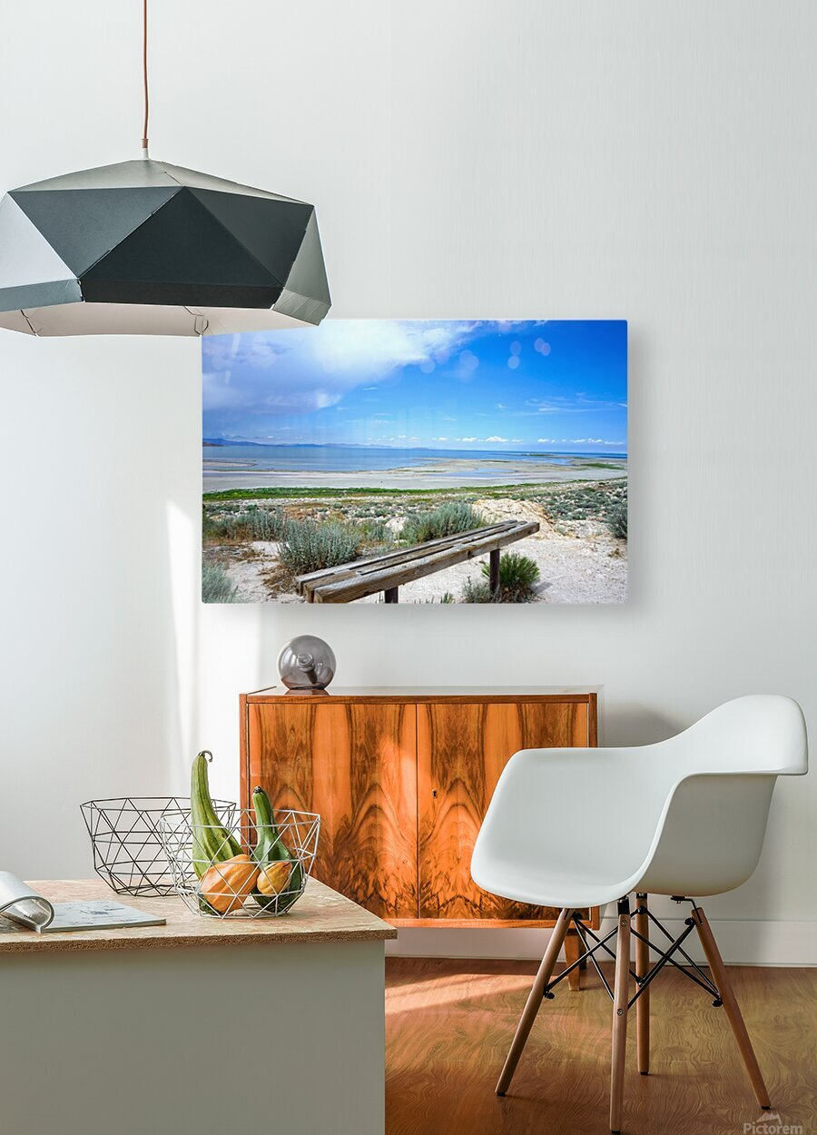 The Great Salt Lake 1 of 7  HD Metal print with Floating Frame on Back