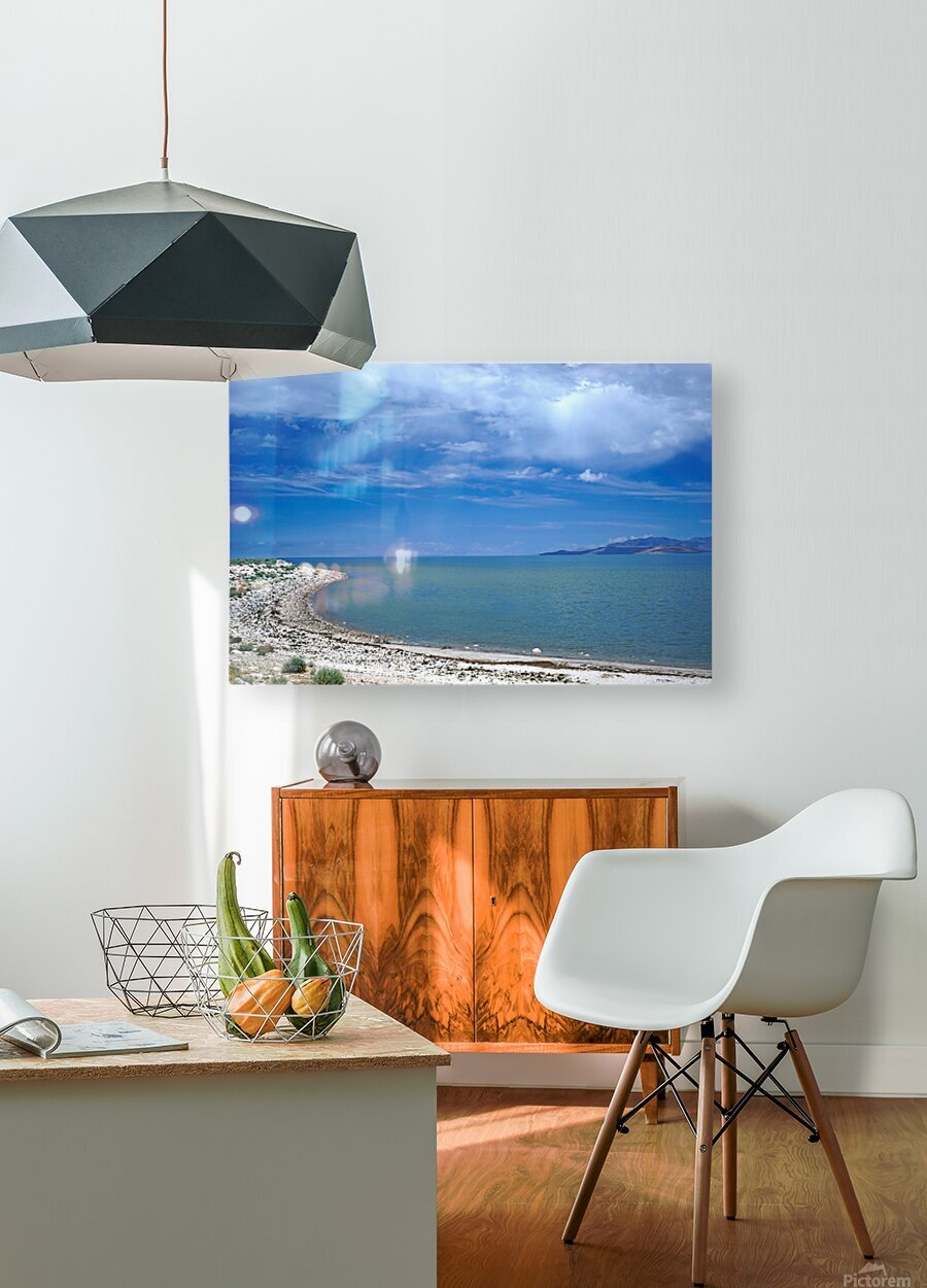 The Great Salt Lake 6 of 7  HD Metal print with Floating Frame on Back