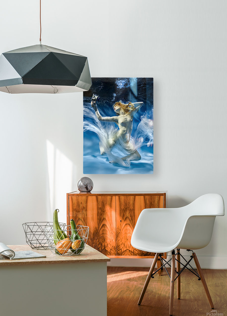 Aqua-Theatre  HD Metal print with Floating Frame on Back