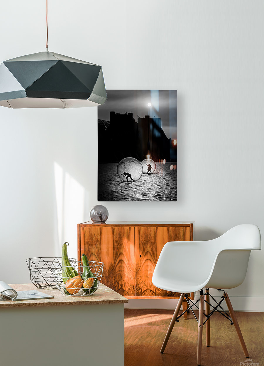 Games in a bubble  HD Metal print with Floating Frame on Back