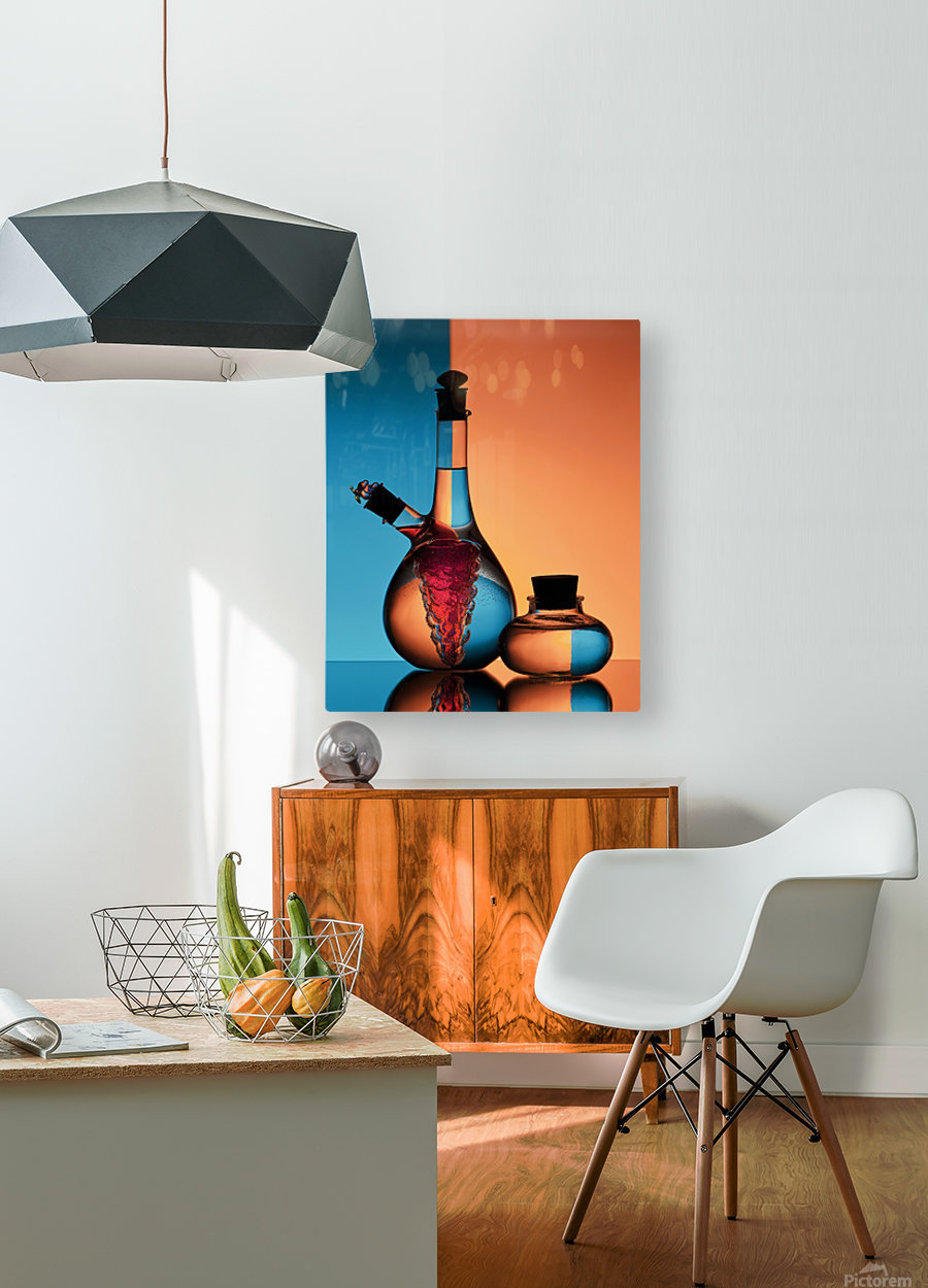 Oil and Vinegar  HD Metal print with Floating Frame on Back