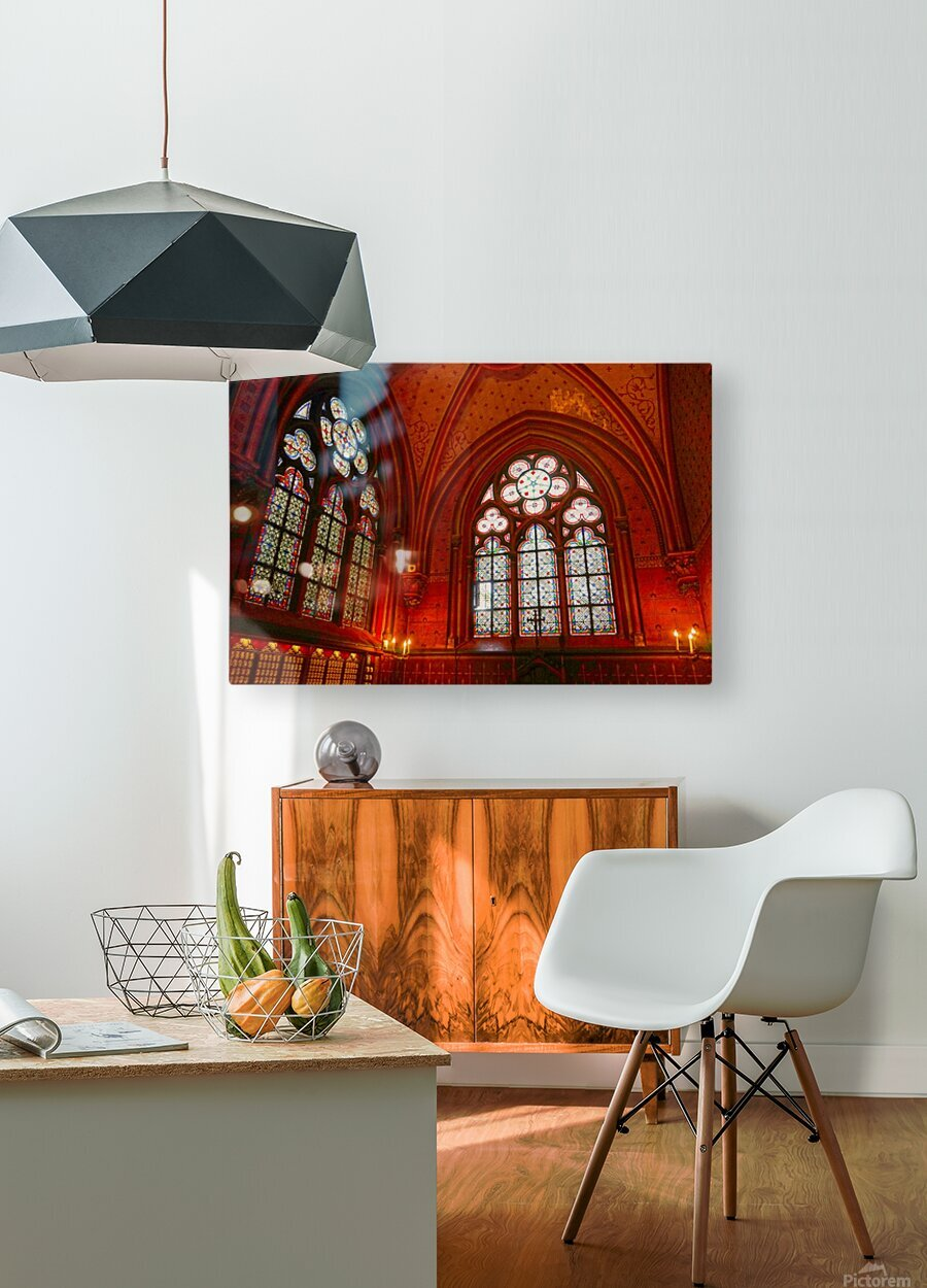 Jeanne d Arc and Saint Croix Cathedral at Orleans   France 6 of 7  HD Metal print with Floating Frame on Back