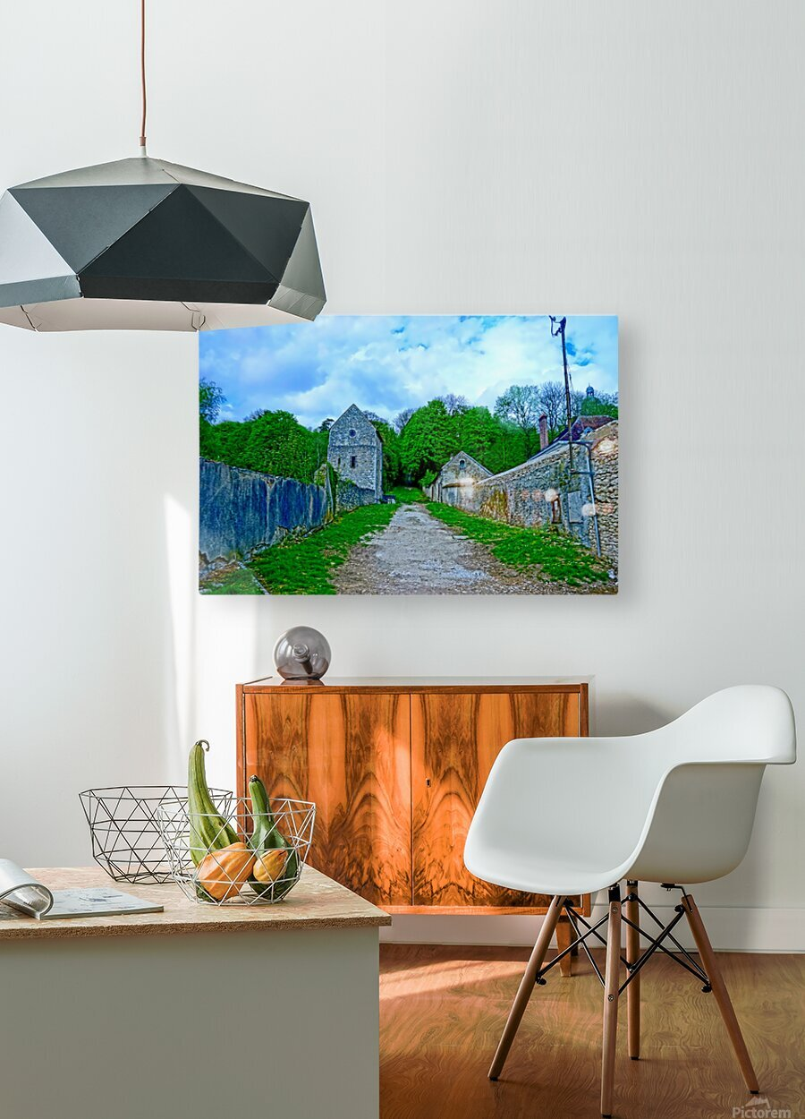 The Road Less Traveled  HD Metal print with Floating Frame on Back