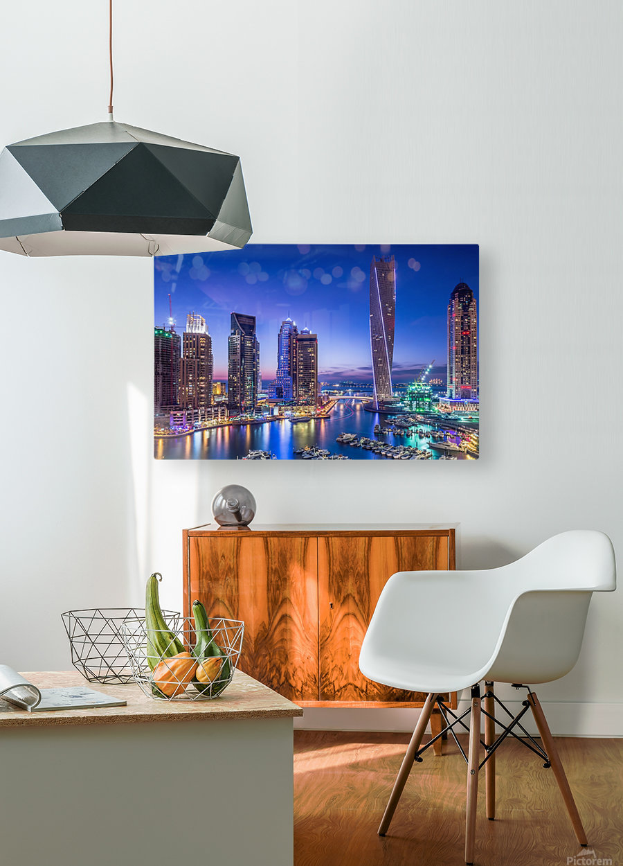 Dubai Marina  HD Metal print with Floating Frame on Back