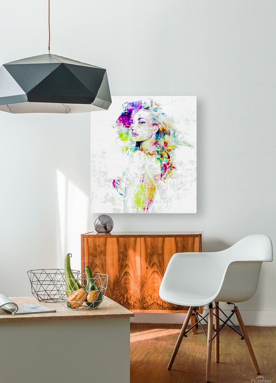 Hey Baby  HD Metal print with Floating Frame on Back