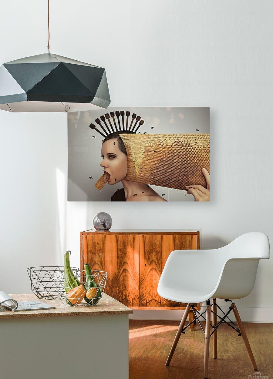 Beekeeping 2073  HD Metal print with Floating Frame on Back