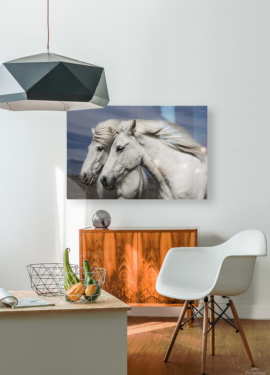 Blowing by Bragi Ingibergsson  HD Metal print with Floating Frame on Back