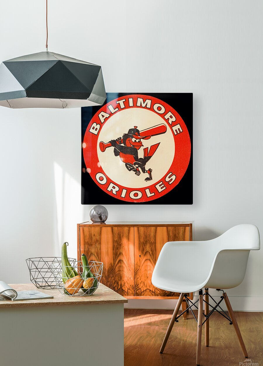 1960s Baltimore Orioles Art  HD Metal print with Floating Frame on Back