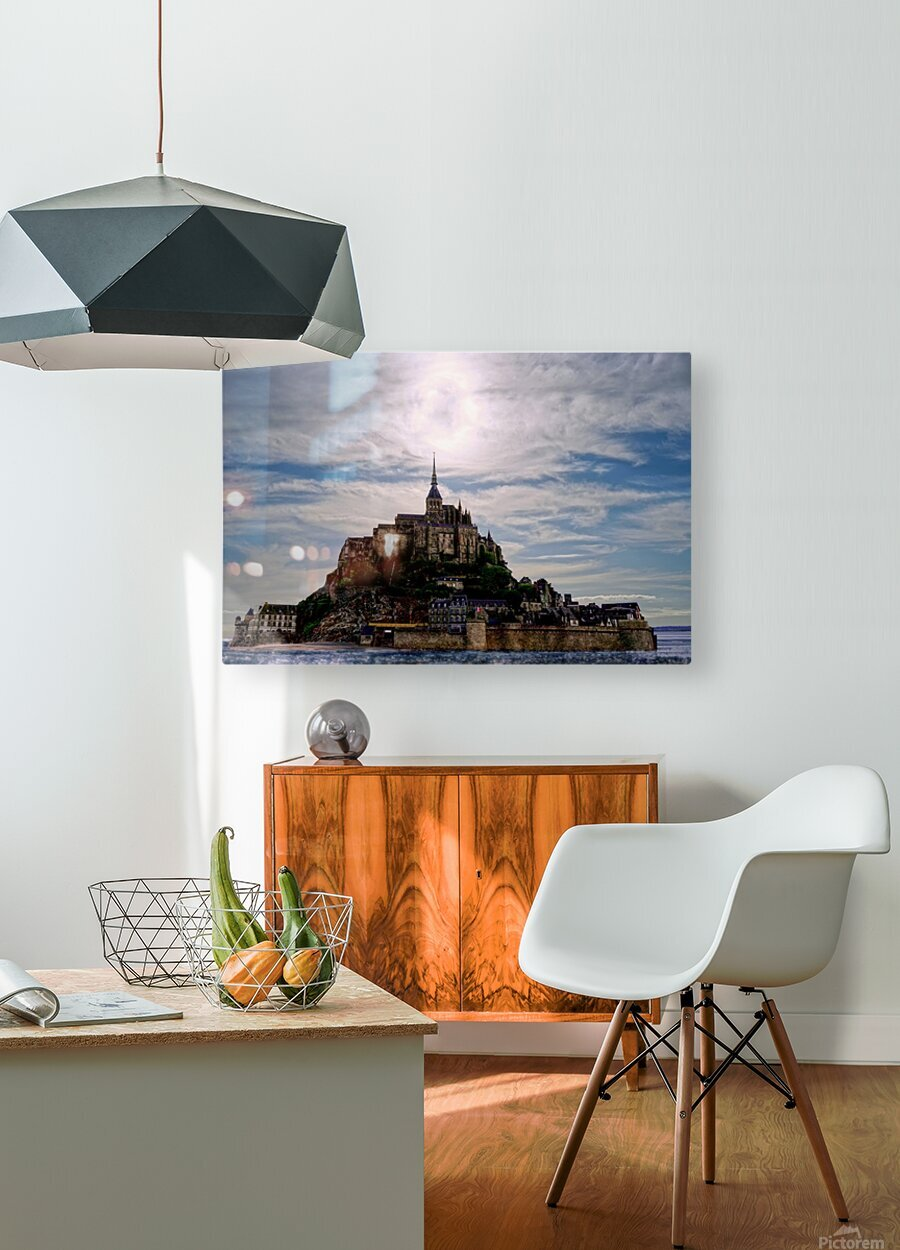 Mount Saint Michael The Fires of Heaven - Normandy France  HD Metal print with Floating Frame on Back