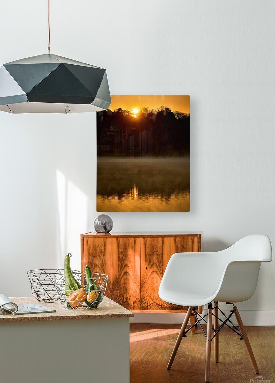 Sunrise at Langley Pond Park   Aiken SC 7R301617 12 19 20  HD Metal print with Floating Frame on Back