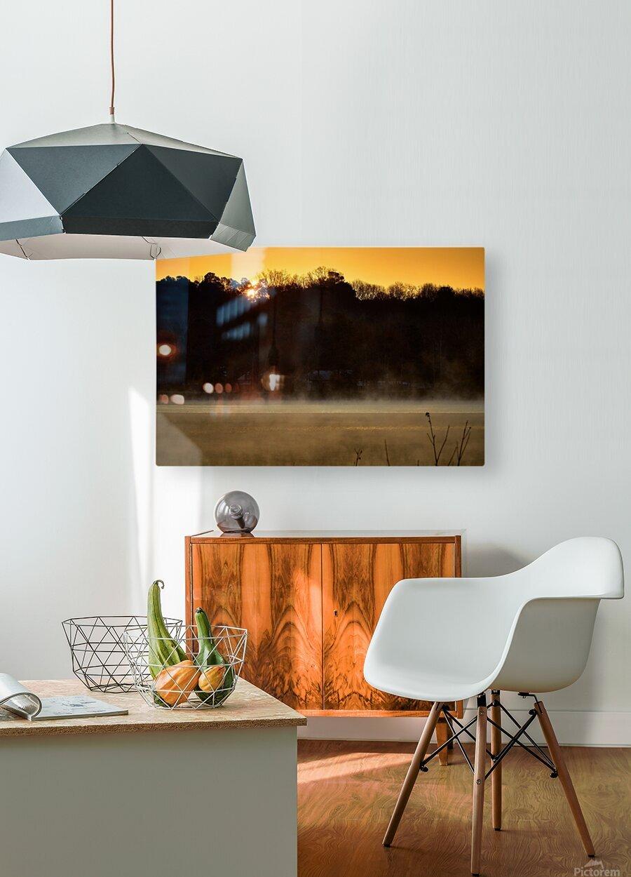 Sunrise at Langley Pond Park   Aiken SC 7R301610 12 19 20  HD Metal print with Floating Frame on Back