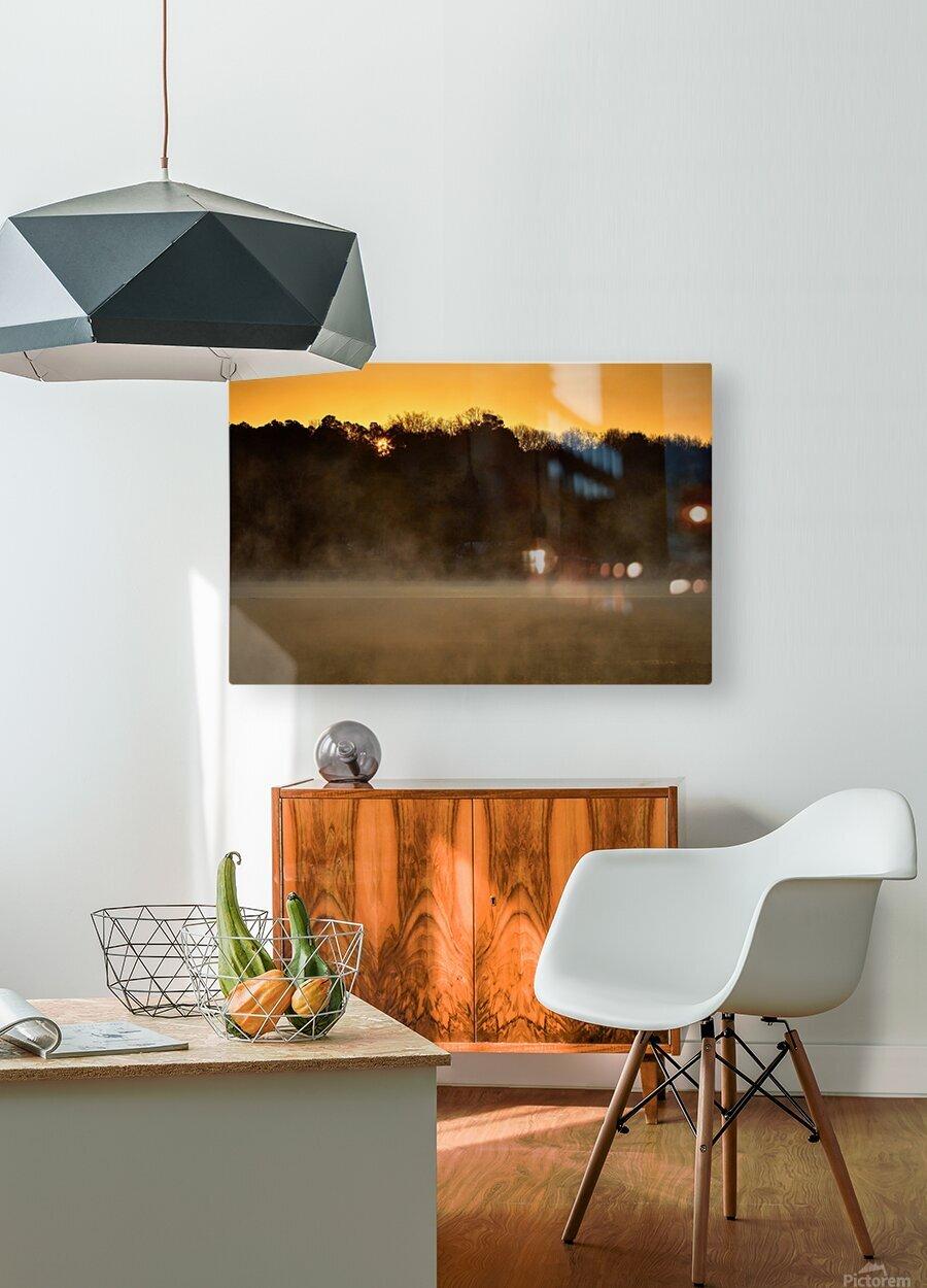 Sunrise at Langley Pond Park   Aiken SC 7R301594 12 19 20  HD Metal print with Floating Frame on Back